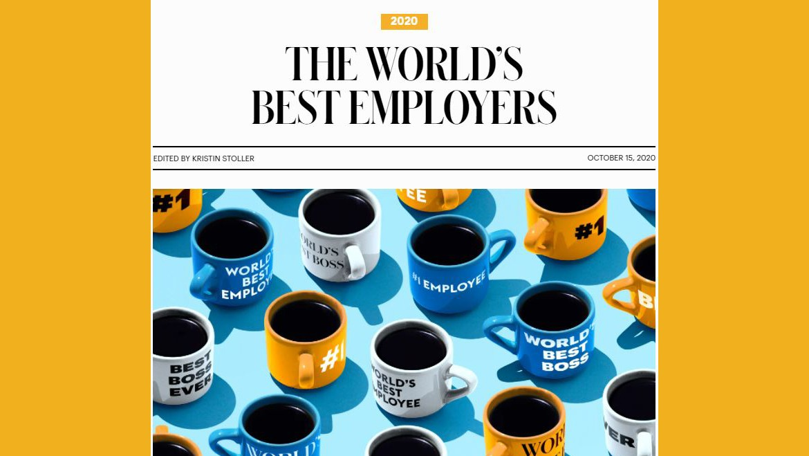 """Mando Ranked the 74th in Forbes Magazine List of """"World's Best Employers"""""""