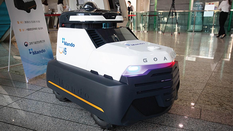 Autonomous Patrol Robot by Mando:  Goalie